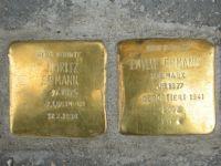 Die Stolpersteine in der Trierer Moltkestraße erinnern an Moritz und Emilie Ermann.