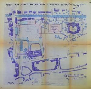 Große Pläne, die nicht verwirklicht wurden: der Museumsplan vom 1933. Quelle: Stadtarchiv Trier