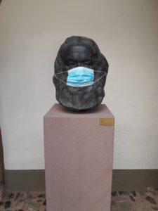 Vorbildlich: Marx mit Mundschutz. © Museum Karl-Marx-Haus